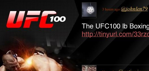 Twitter Streaming UFC